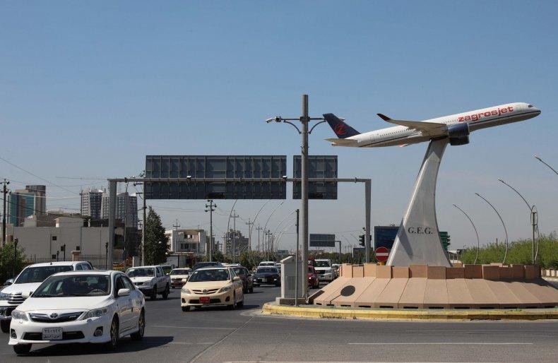 Erbil, International, Airport, rocket, attack, Iraq