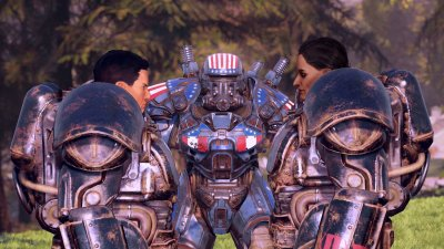 Knight Shin and Paladin Rahmani in Fallout