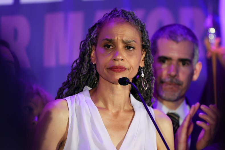 NYC Mayoral Candidate Maya Wiley Addresses Supporters