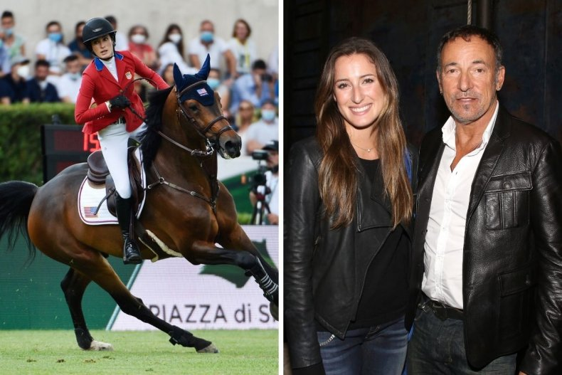 Jessica Springsteen with her father Bruce Springsteen