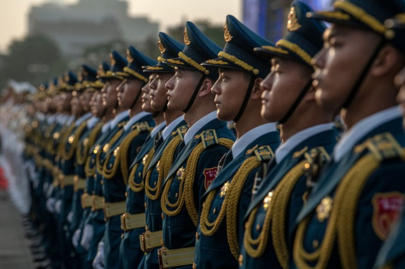 Chinese Military Take Part In Anniversary Parade