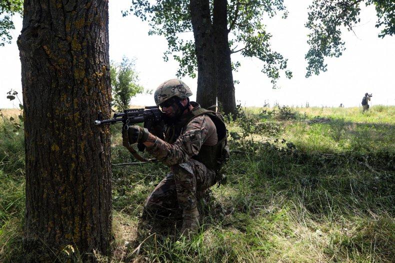 US soldier at Sea Breeze drills Ukraine