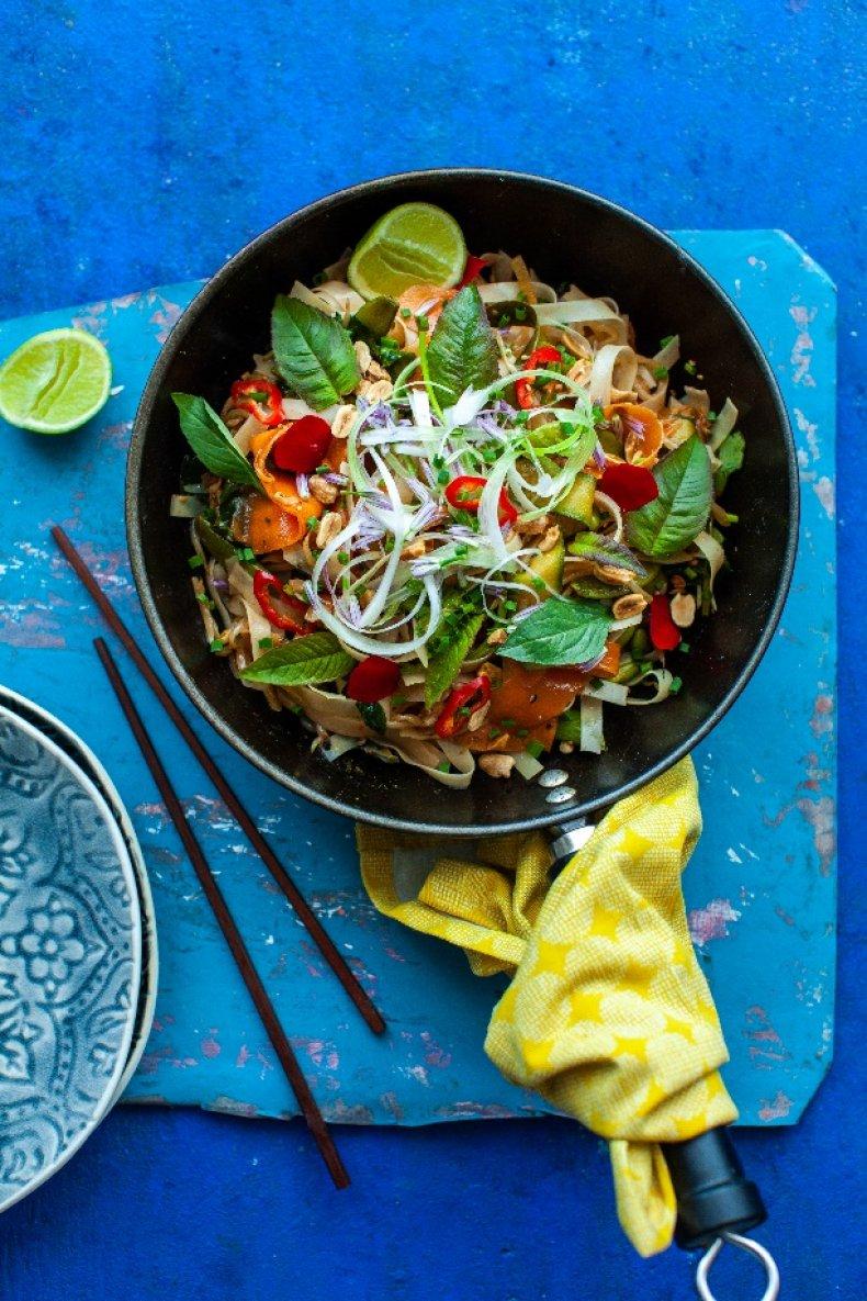 Vegan Noodle Bowl With Edamame