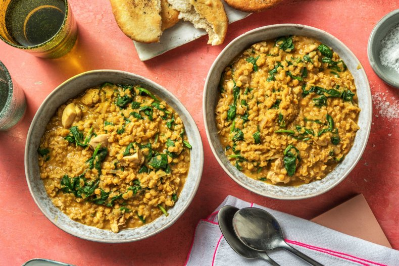 One Pot Chicken and Red Lentil Dal