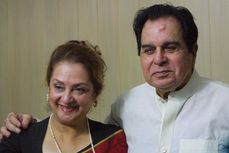 Dilip Kumar and his wife Saira Banu