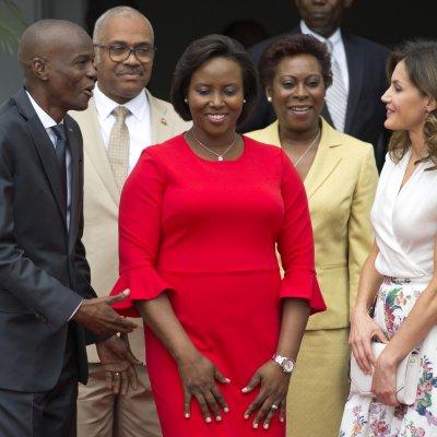 Haiti First Lady Martine Moise, President Jovenel.