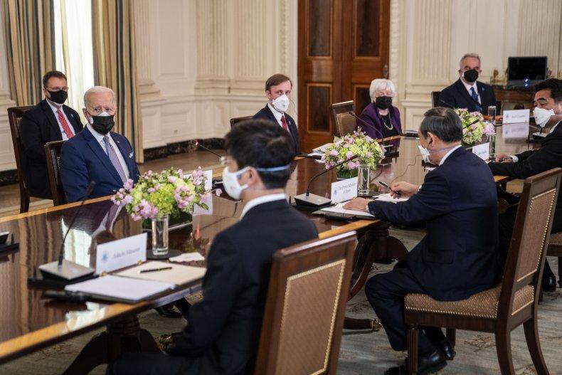 President Joe Biden Meets PM Yoshihide Suga