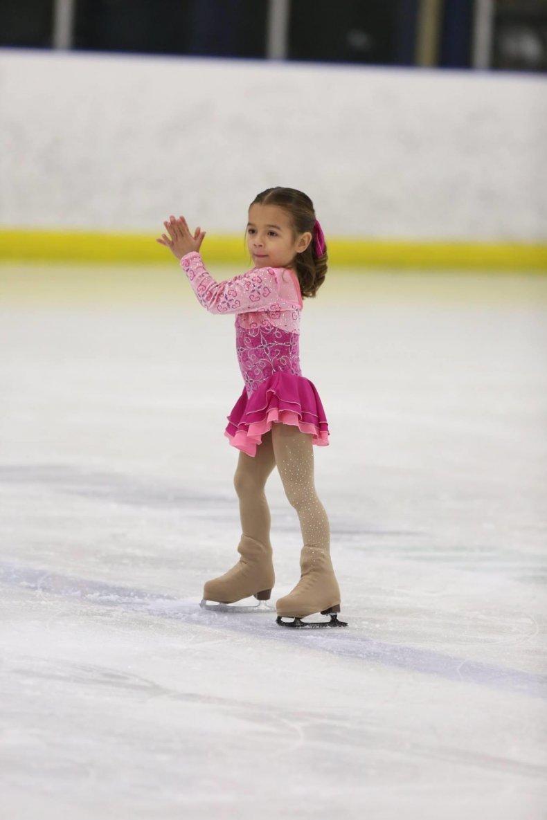 Photo of Aspen Jacobi ice skating.