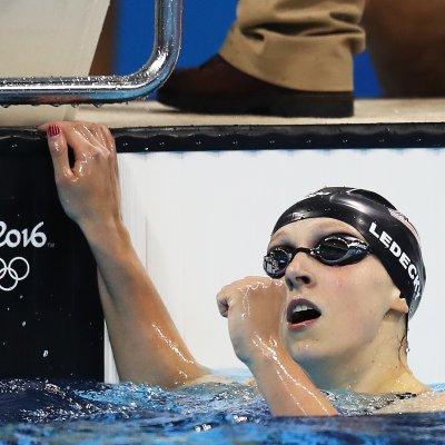Katie Ledecky at the 2016 Rio Olympics