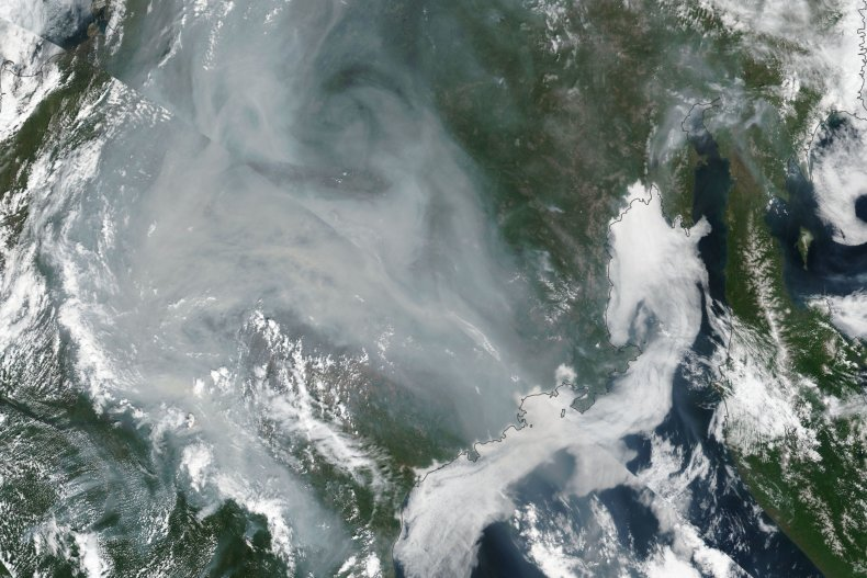 Massive Russian Wildfires from Space