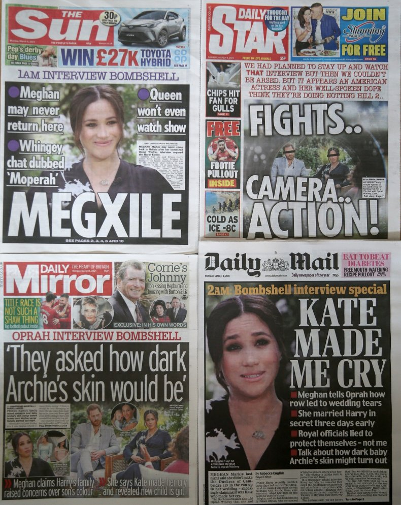 Harry and Meghan Oprah Interview Coverage