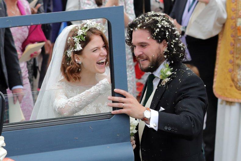 Kit Harington and Rose Leslie wedding day