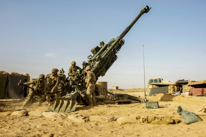 US, troops, fire, howitzer, eastern, Syria