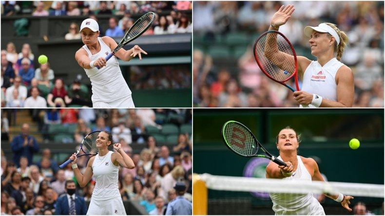 The four women semifinalists at Wimbledon
