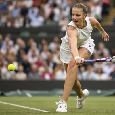 Karolina Pliskova at Wimbledon