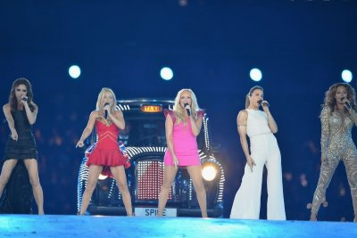 Spice Girls performing at London 2012 Olympics