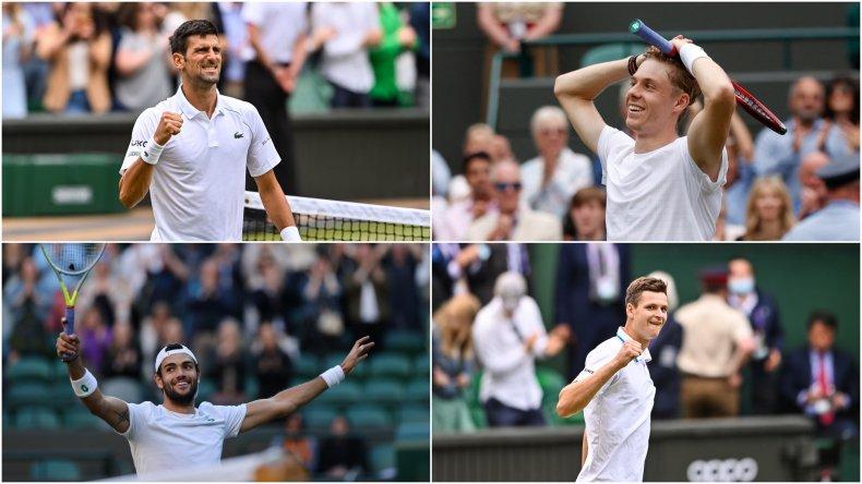 Wimbledon men semifinalists
