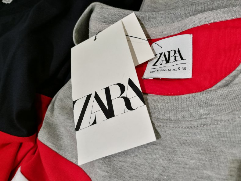 File photo of a Zara clothing label.