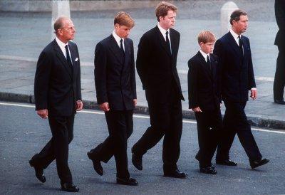 Prince Harry Walks Behind Princess Dianas Coffin