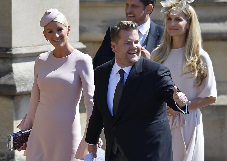 James Corden at Harry and Meghan's Wedding