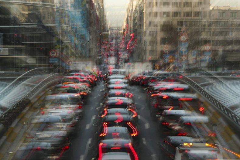 Traffic in Brussels, Belgium