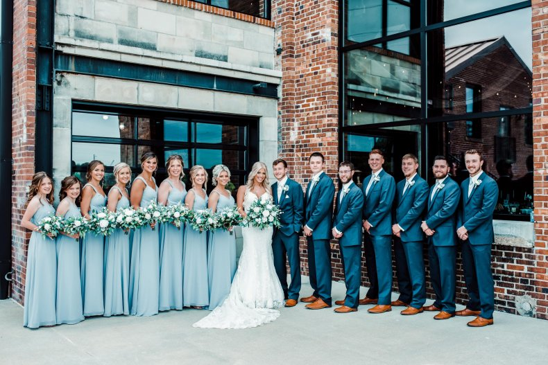 The Love wedding party