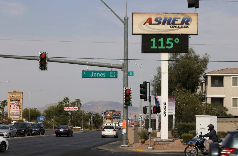 Temperature Displayed in Las Vegas