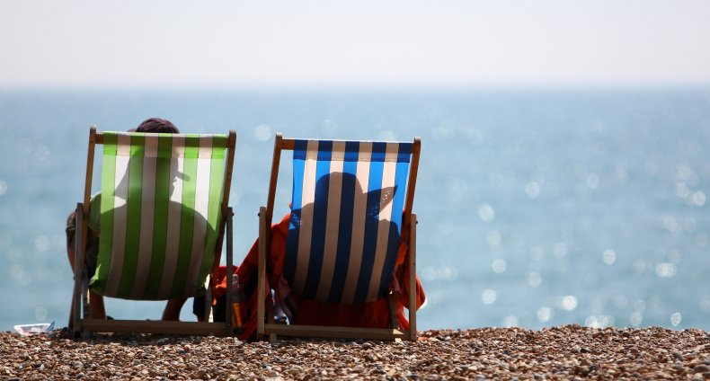 Beachgoers in Chairs