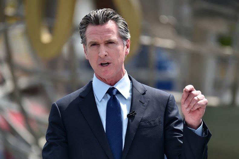 Gavin Newsom Water Usage Drought California