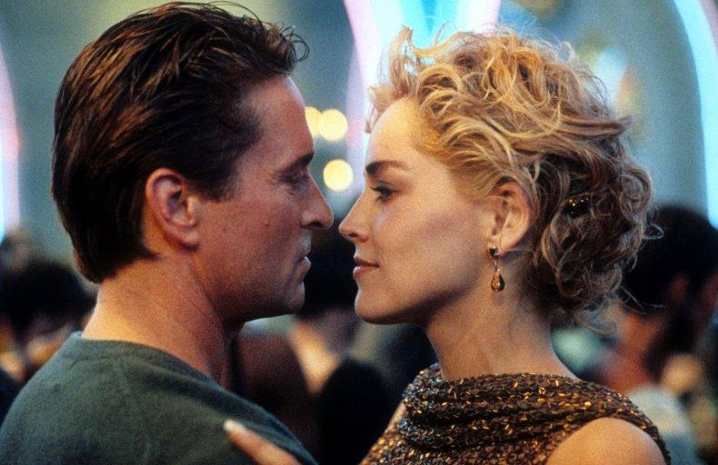 Michael Douglas and Sharon Stone