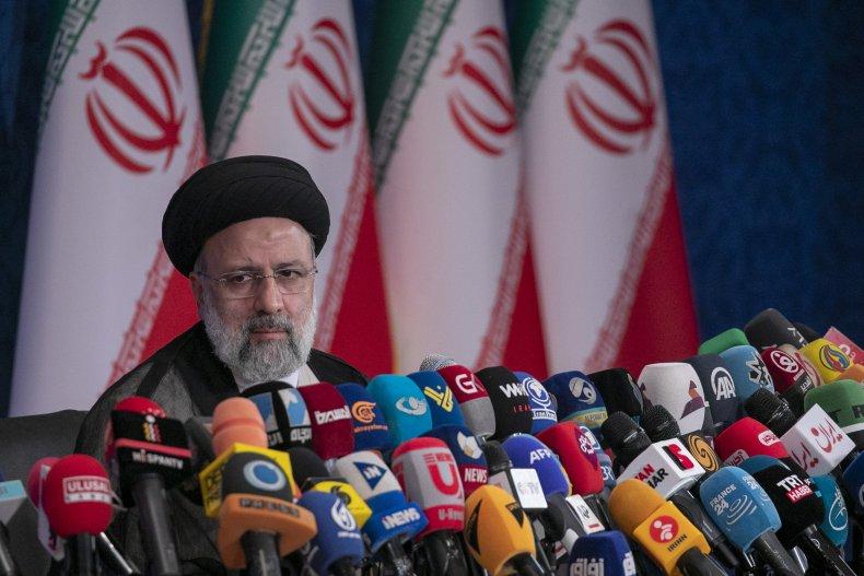 Ebrahim Raisi press conference in Tehran, Iran