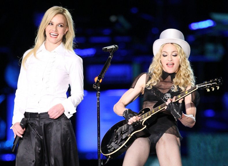 Britney Spears and Madonna onstage together