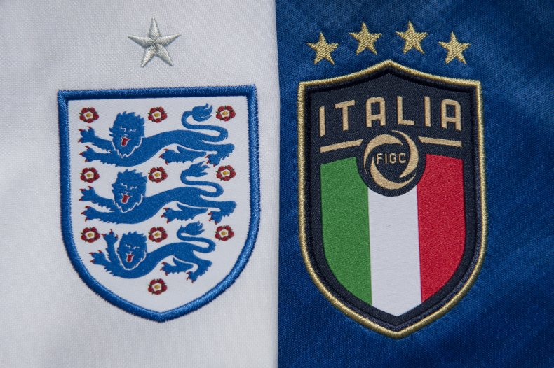 England at Italy at Euro 2020
