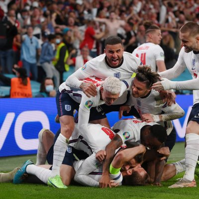 England against Denmark at Euro 2020