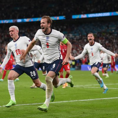 Harry Kane against Denmark