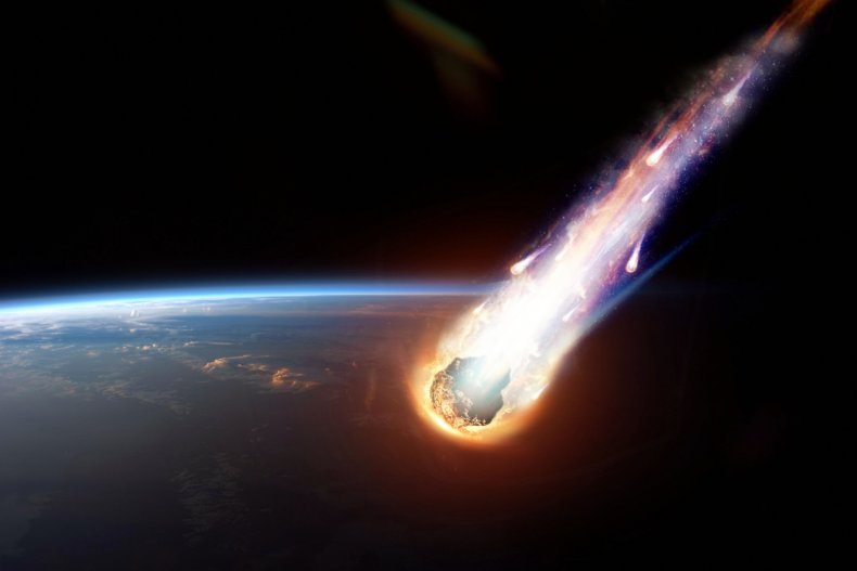 Asteroid breaking up