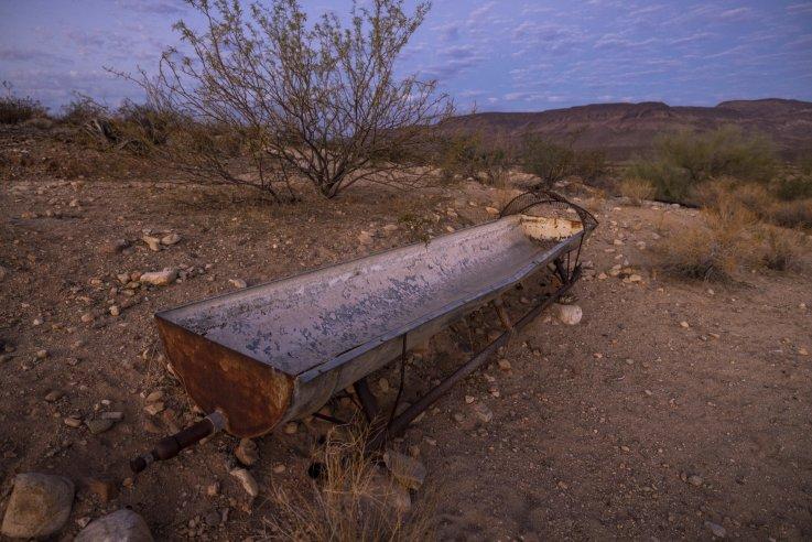 Empty water trough