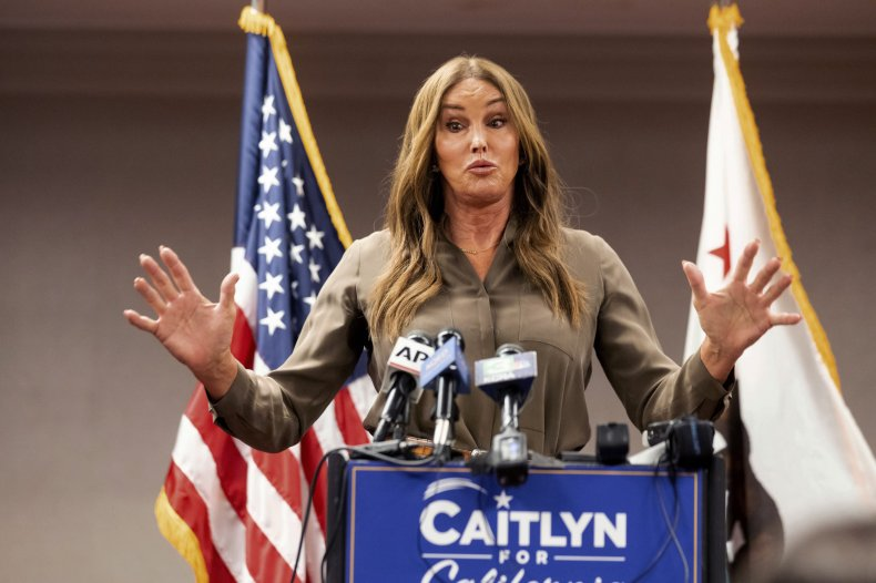 Caitlyn Jenner During News Conference
