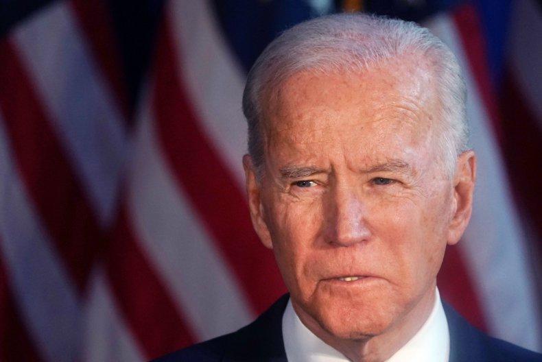 Democratic Presidential candidate Joe Biden delivers a