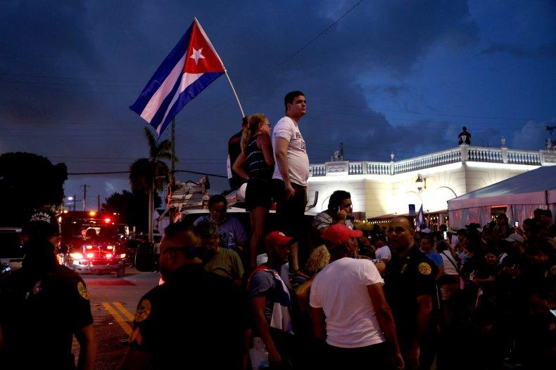 Cuba protests dictator Fidel Castro anti-govenrment