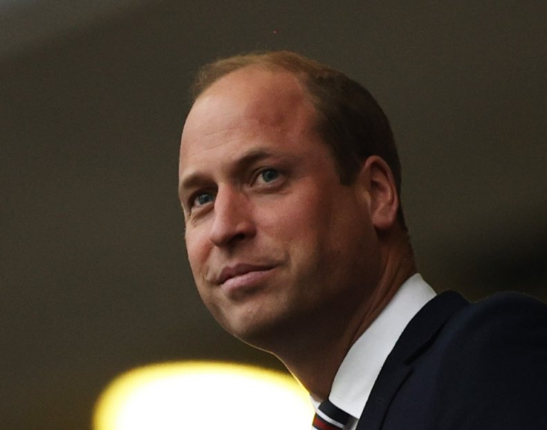 Prince William at England Italy Final