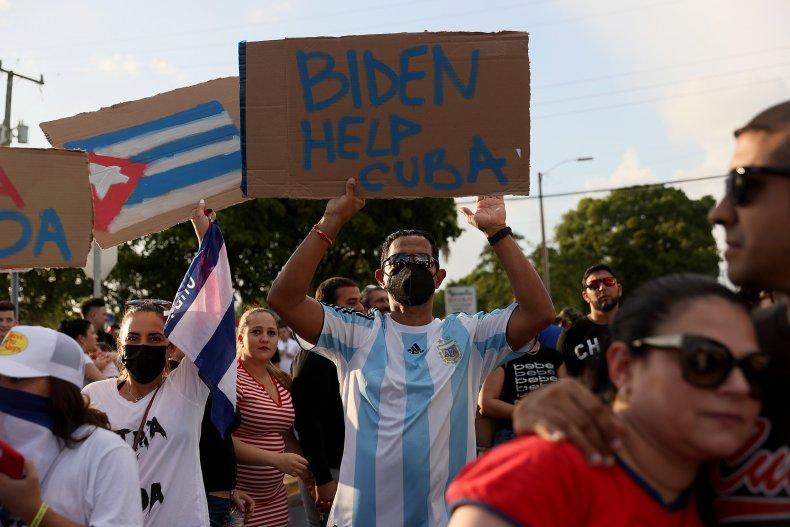 Little Havana Cuba protests