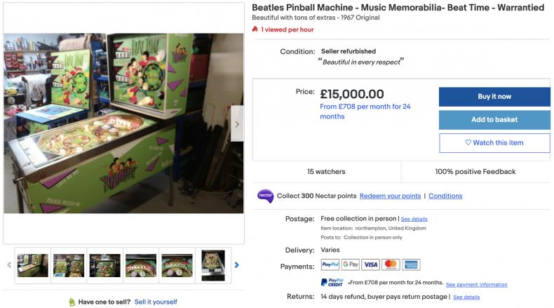 Beatles Pinball Machine ($21,000)