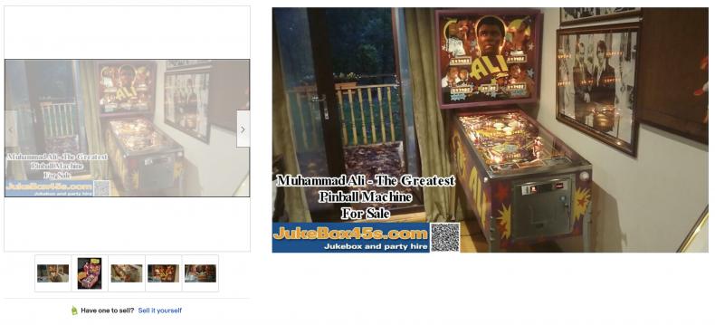 Muhammad Ali Pinball Machine ($25,000)