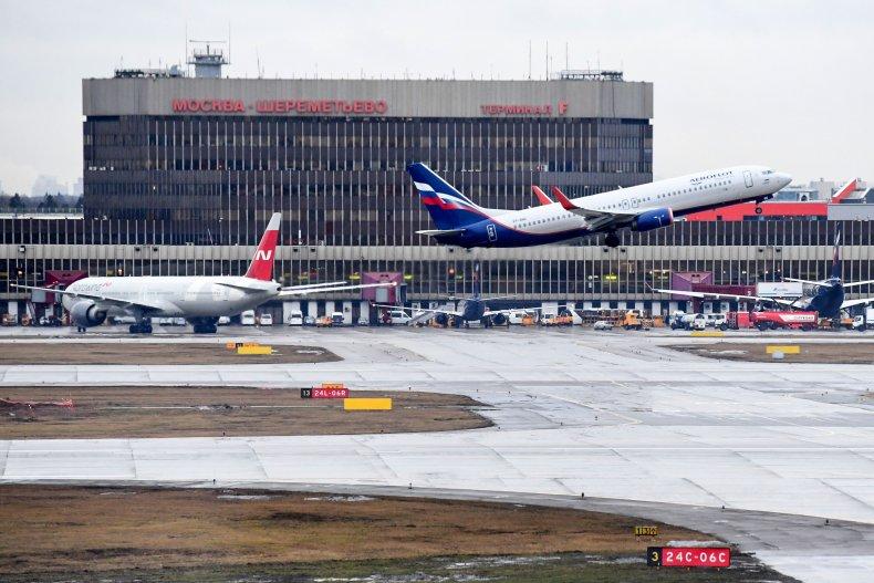 Sheremetyevo airport plane door