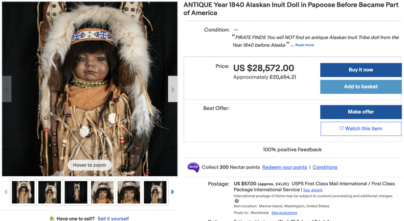 Alaskan Inuit Doll ($28,000)