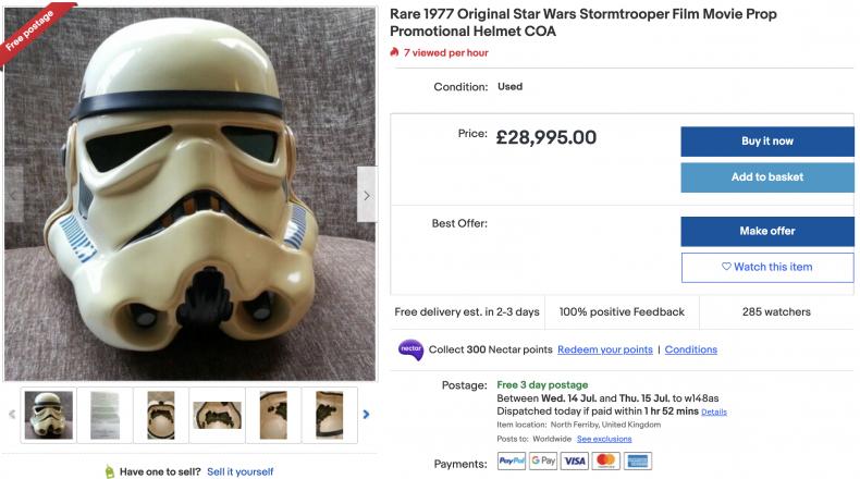 Original Star Wars Stormtrooper Film Movie Prop