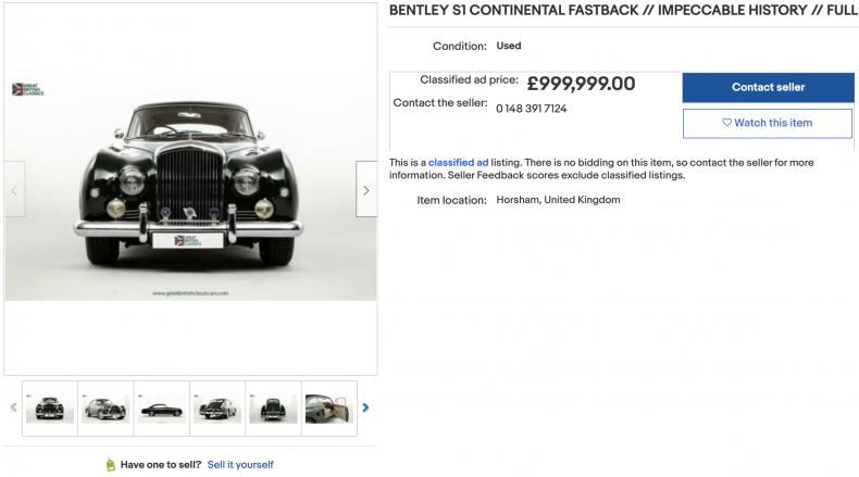 Bentley S1 Continental Fastback (1,380,000)