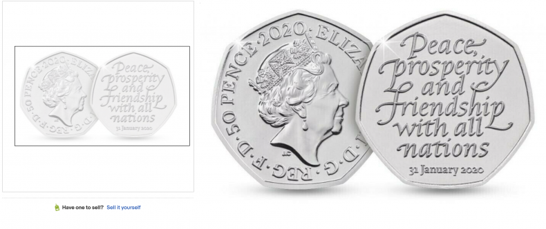 Brexit 50p Coin ($7,200,000)