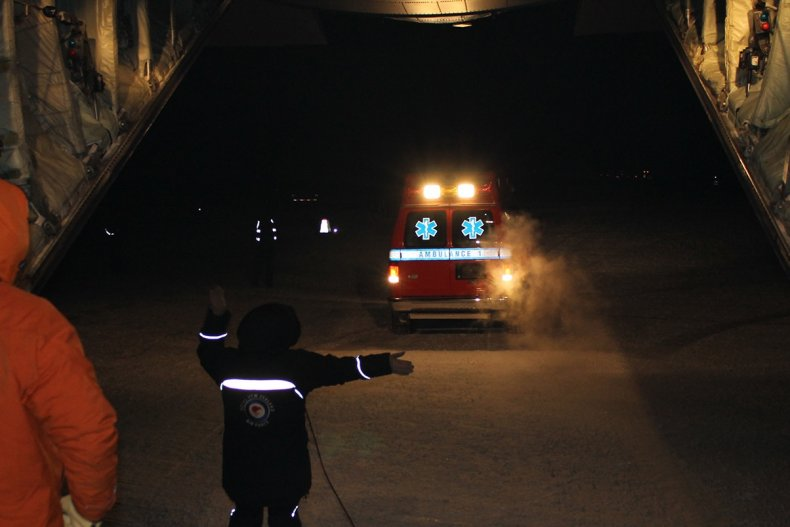 The McMurdo research station medevac mission